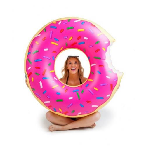 Bóia gigante Donut Rosa