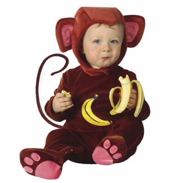bf30310d6077 Fato carnaval de macaco para bebé
