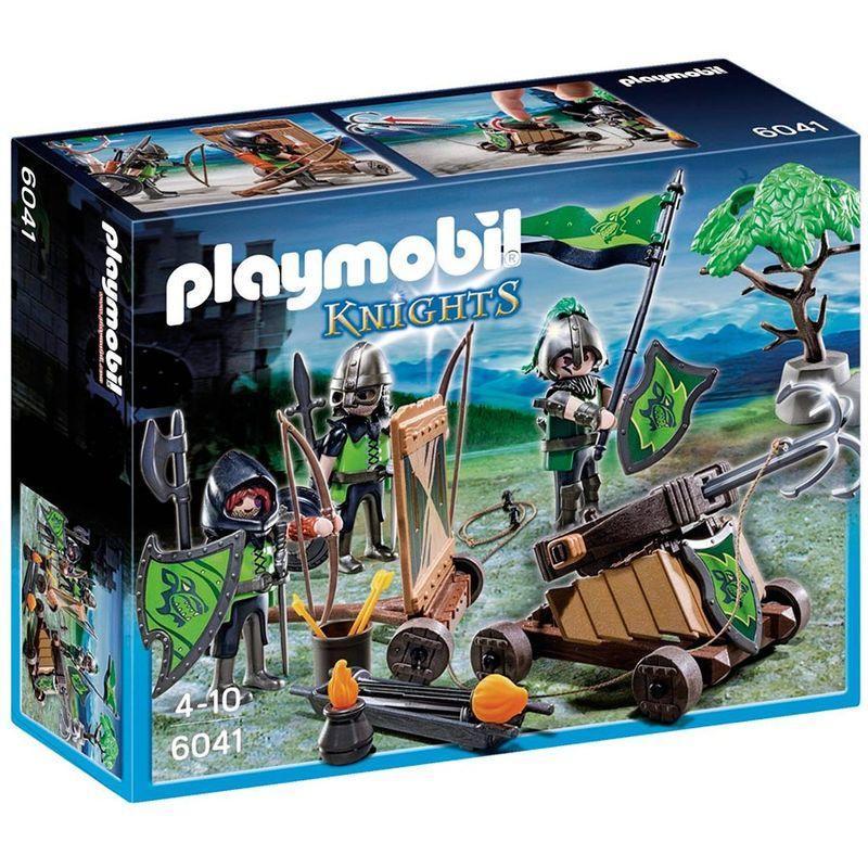 Cavaleiros catapulta Playmobil Knights
