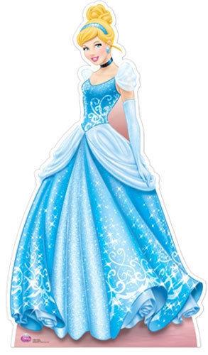 Figura em cartão de Cinderella 1.63cm
