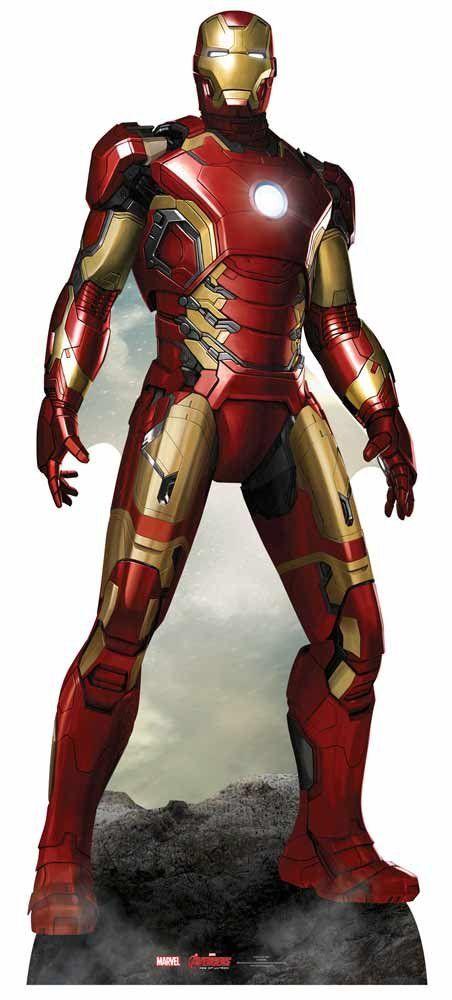 Figura em cartão de Homem de Ferro  - Iron Man 1.93cm