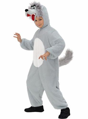 Fato - disfarce carnaval de lobo de peluche infantil