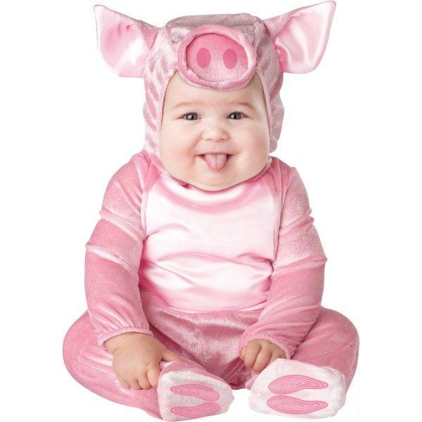 ee36c3ef4 Fato de porquinho cor-de-rosa para bebé