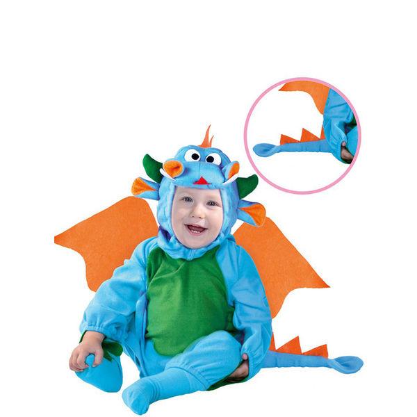 Fato carnaval de Dragãozinho azul para bebé