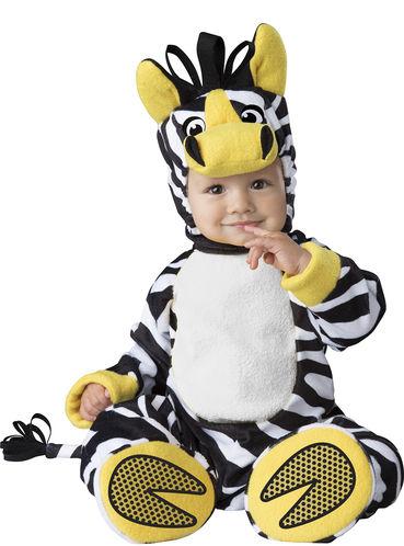 Disfarce Fato Carnaval Zebra Da Selva Para Bebé